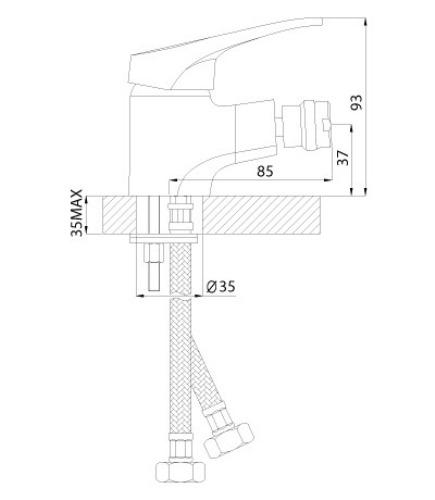 Смеситель ROSSINKA B35-51 для биде