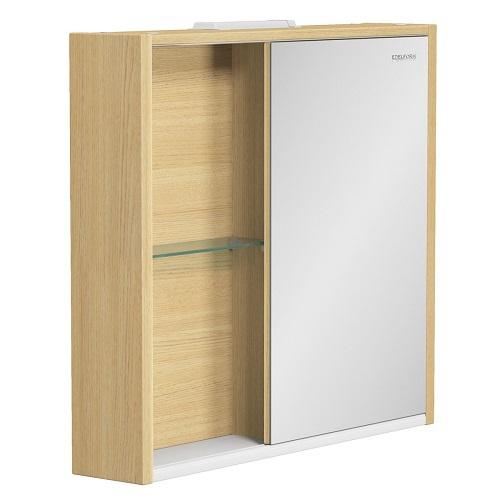 Шкаф зеркальный Edelform Уника 80 белый с дуб гальяно