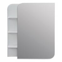 Зеркало Merkana Ладья 50 с полочкой (слева/справа), белый